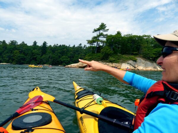 Sea kayaking on Casco Bay