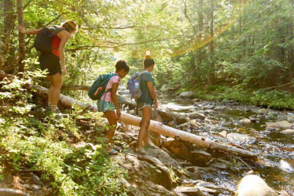 Maine hiking with kids