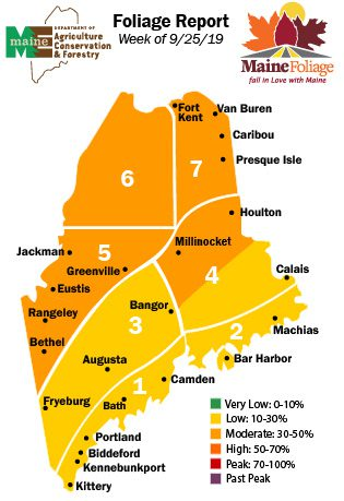 Maine fall foliage map week 3
