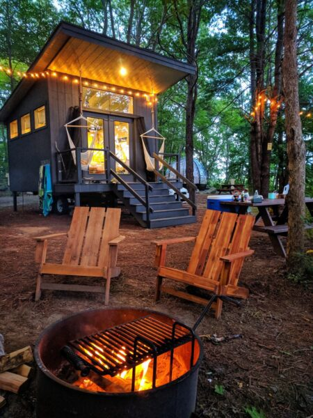 Glamping at Sandy Pines