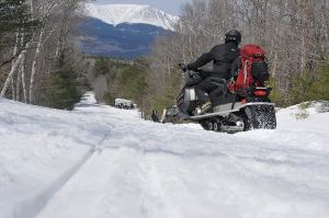 Snowmobiling views of Katahdin - Click on the image above to access more Maine winter images.