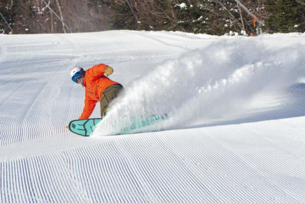 Snowboarder at Sunday River
