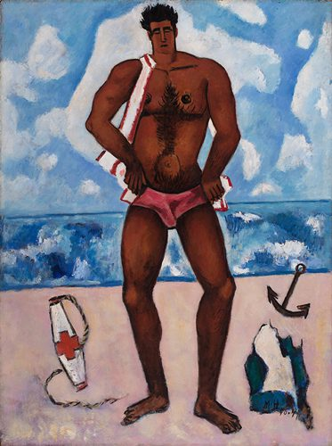 Canuck Yankee Lumberjack at Old Orchard Beach by Marsden Hartley
