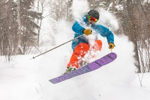 Enjoying new snow at Sugarloaf - Click on the image above to access more Maine winter images.
