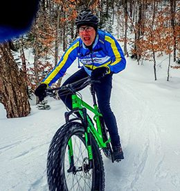 Fat biking at Maine Huts & Trails