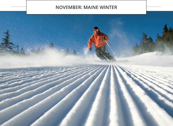 Skiing in Maine