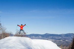 Happy skier during school vacation week - Click on the image above to access more Maine winter images.