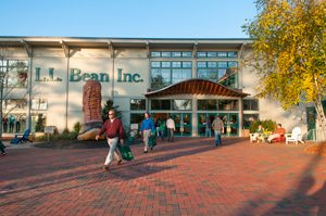 Holiday shopping at L.L. Bean, Freeport, Maine