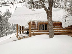 Little Lyford Lodge and Cabins, Appalachian Mountain Club - Click on the image above to access more Maine winter images.