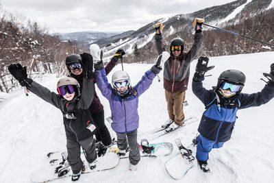 Kids skiing in Maine