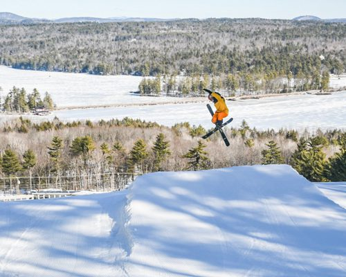 Ski jump at Shawnee Peak, Maine