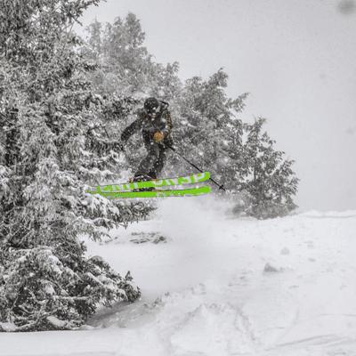 Skis up at Shawnee Peak in Bridgton.