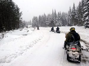 Snowmobiling in Rangeley, Maine  - Click on the image above to access more Maine winter images.