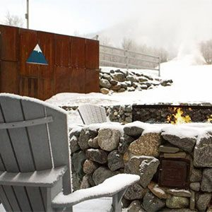 A great spot to warm up at Sugarloaf. Click on the image above for more Maine winter photos - Click on the image above to access more Maine winter images.