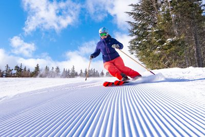 Fresh corduroy at Sunday River ski resort